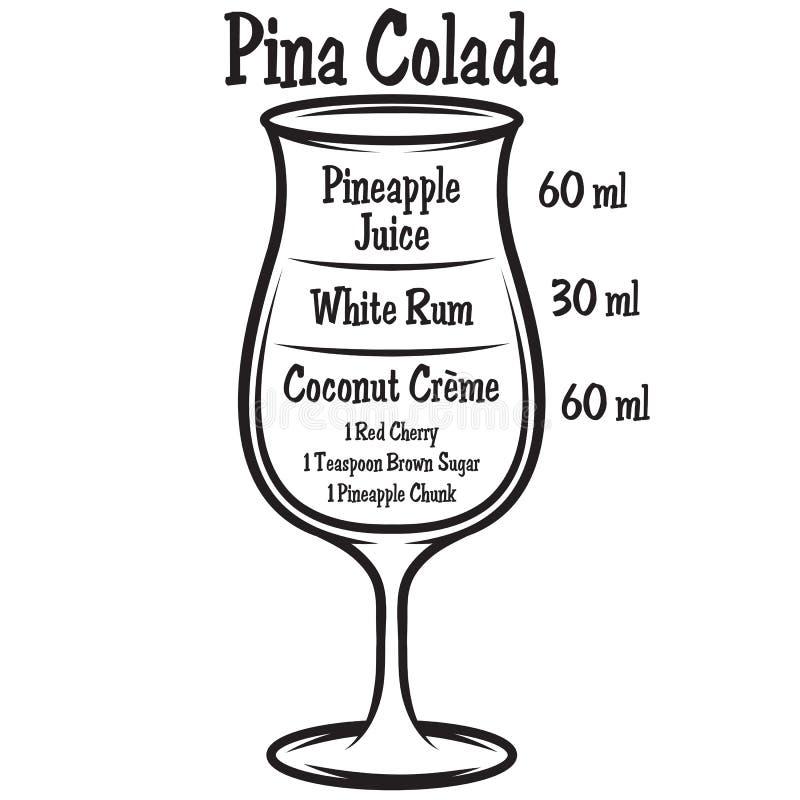 Ejemplo del vector con el cóctel alcohólico en fondo stock de ilustración