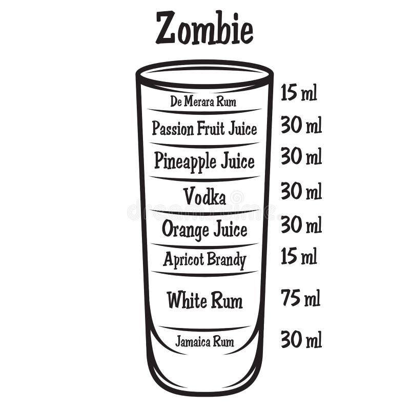 Ejemplo del vector con el cóctel alcohólico en fondo libre illustration