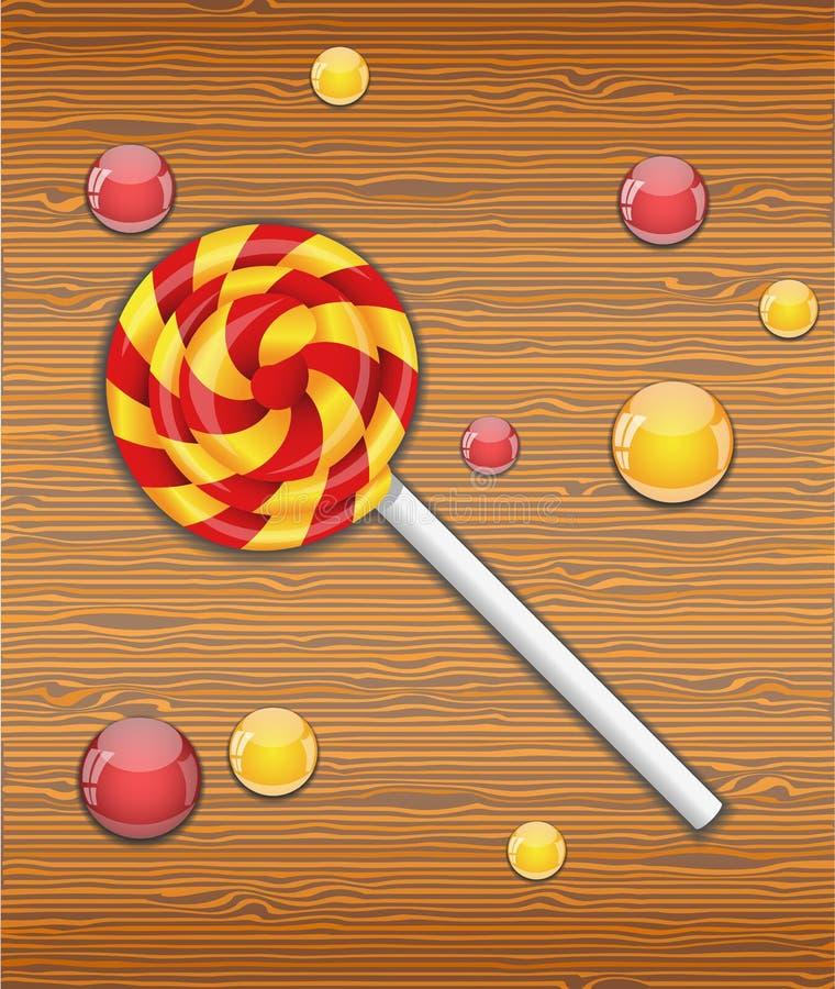 Ejemplo del vector con el caramelo ilustración del vector