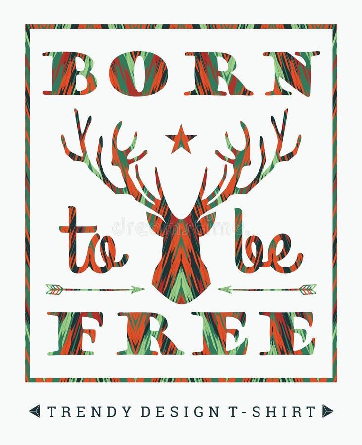 Ejemplo del vector con el lema para las camisetas libre illustration