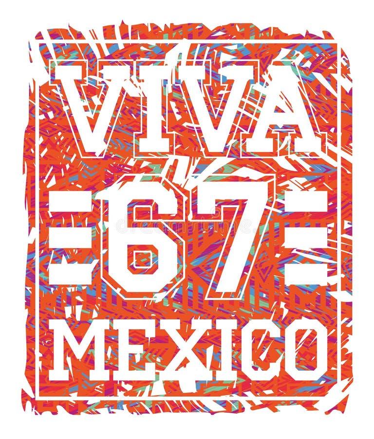 Ejemplo del vector con el lema para las camisetas stock de ilustración