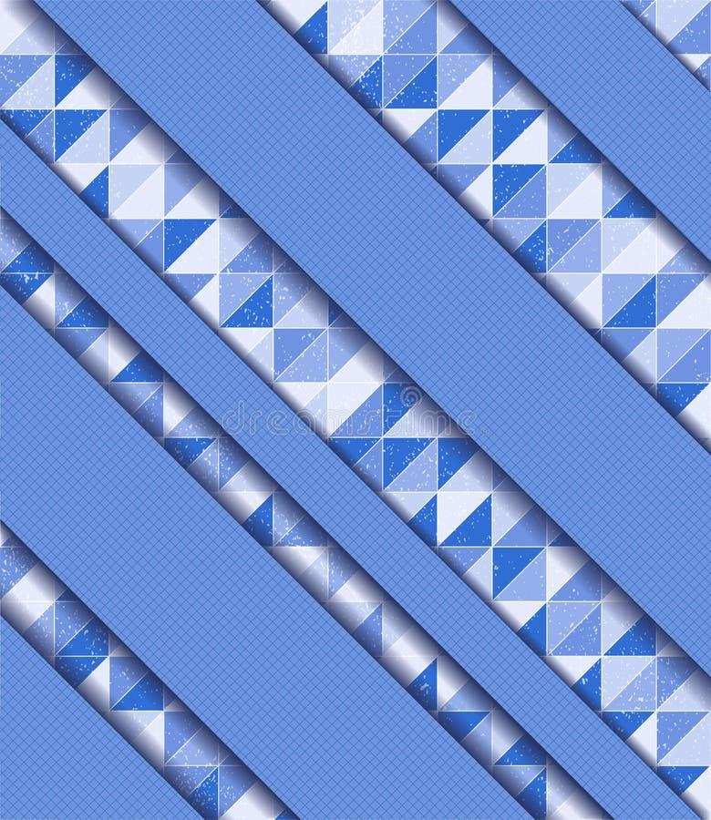 Ejemplo del vector con el mosaico ilustración del vector
