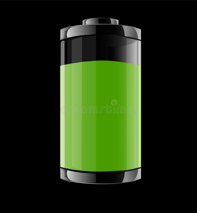 Ejemplo del vector con la batería stock de ilustración