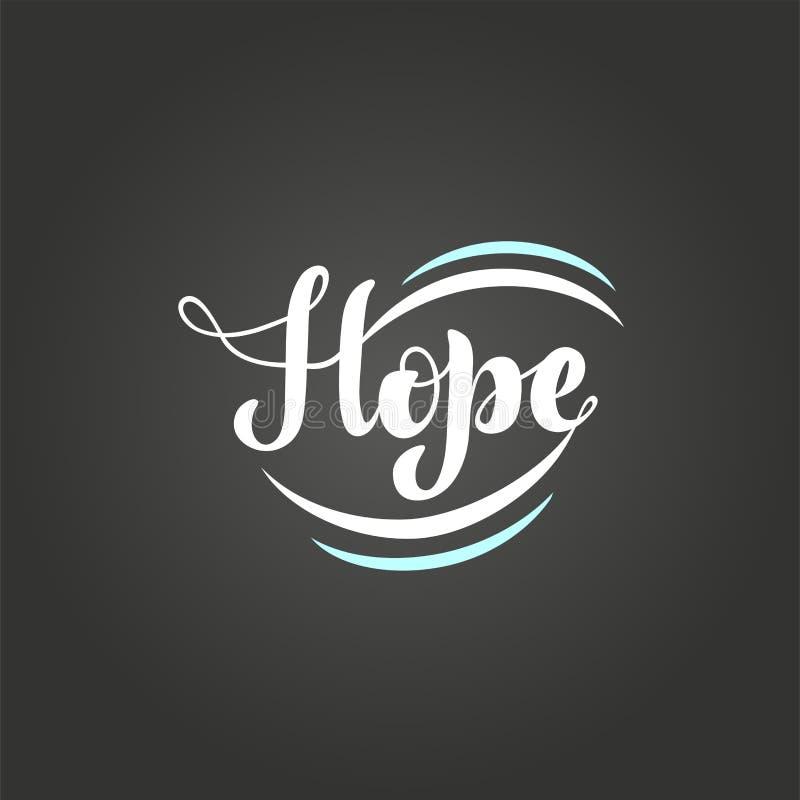 Ejemplo del vector con la frase manuscrita - esperanza deletreado libre illustration