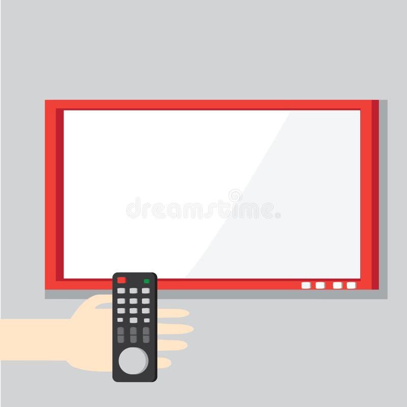 Ejemplo del vector con la mano que se considera teledirigida fotos de archivo libres de regalías