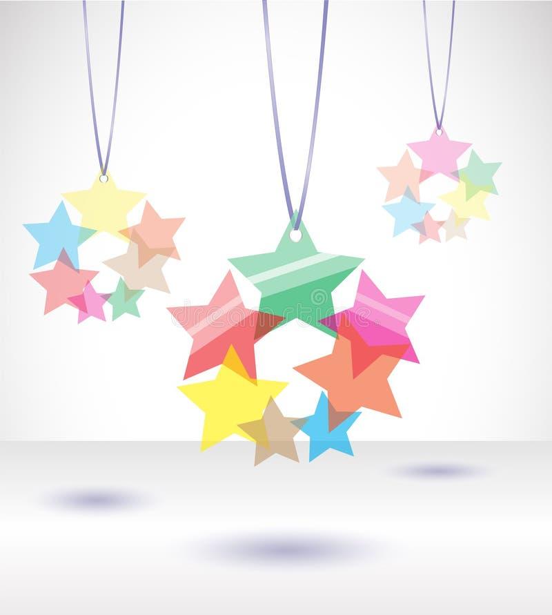 Ejemplo del vector con las estrellas tranparent. ilustración del vector