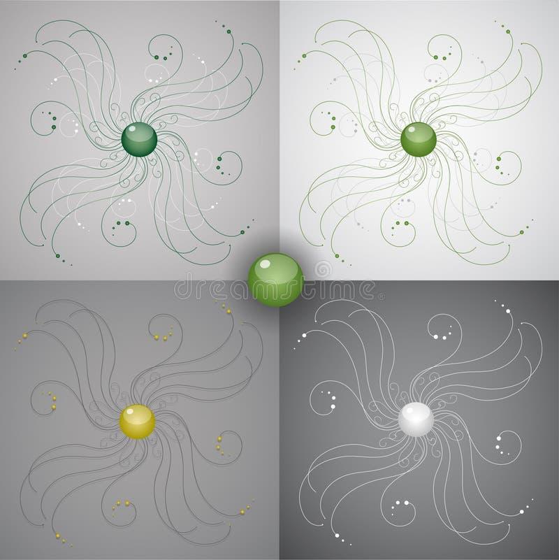 Ejemplo del vector con los ornamentos. stock de ilustración