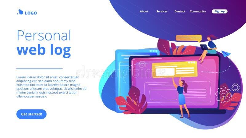 Ejemplo del vector del concepto de Bloging ilustración del vector