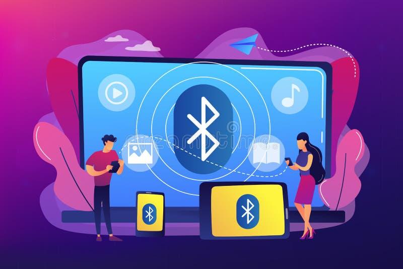 Ejemplo del vector del concepto de la conexi?n de Bluetooth ilustración del vector