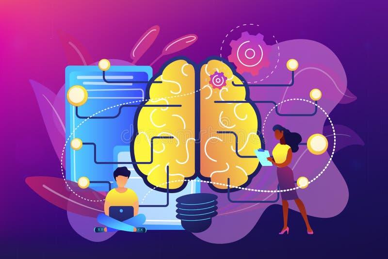Ejemplo del vector del concepto de la inteligencia artificial stock de ilustración