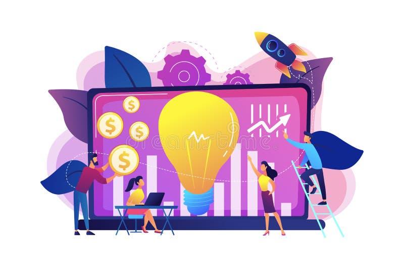 Ejemplo del vector del concepto de la inversión de la empresa libre illustration