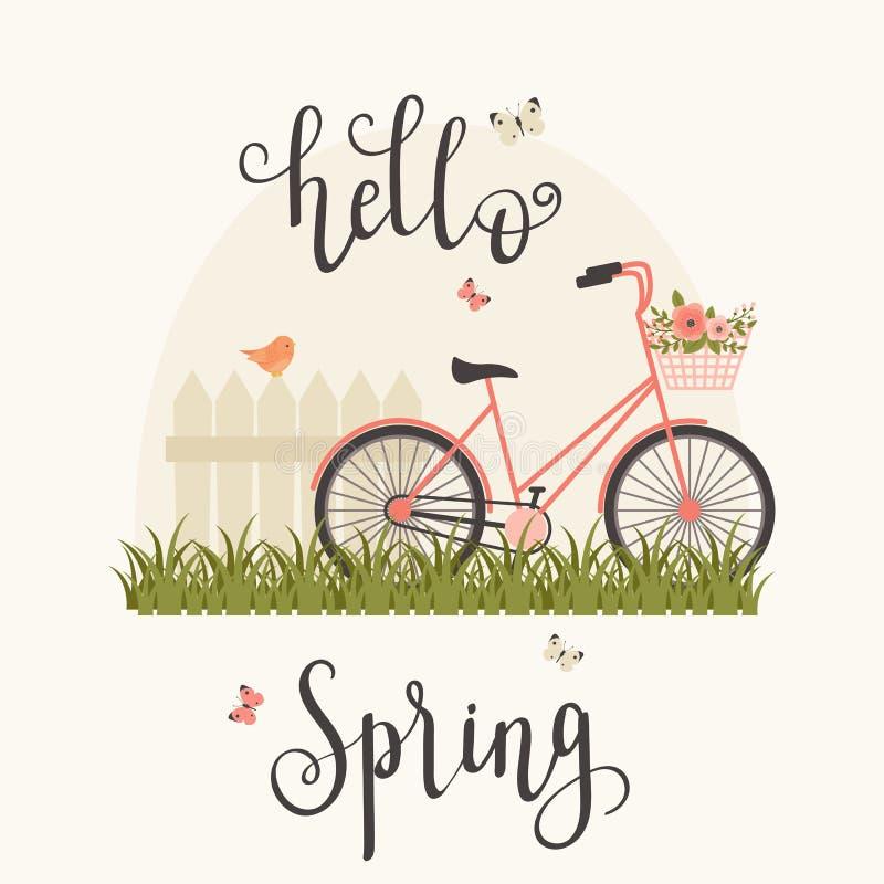 Ejemplo del vector del concepto de la primavera libre illustration