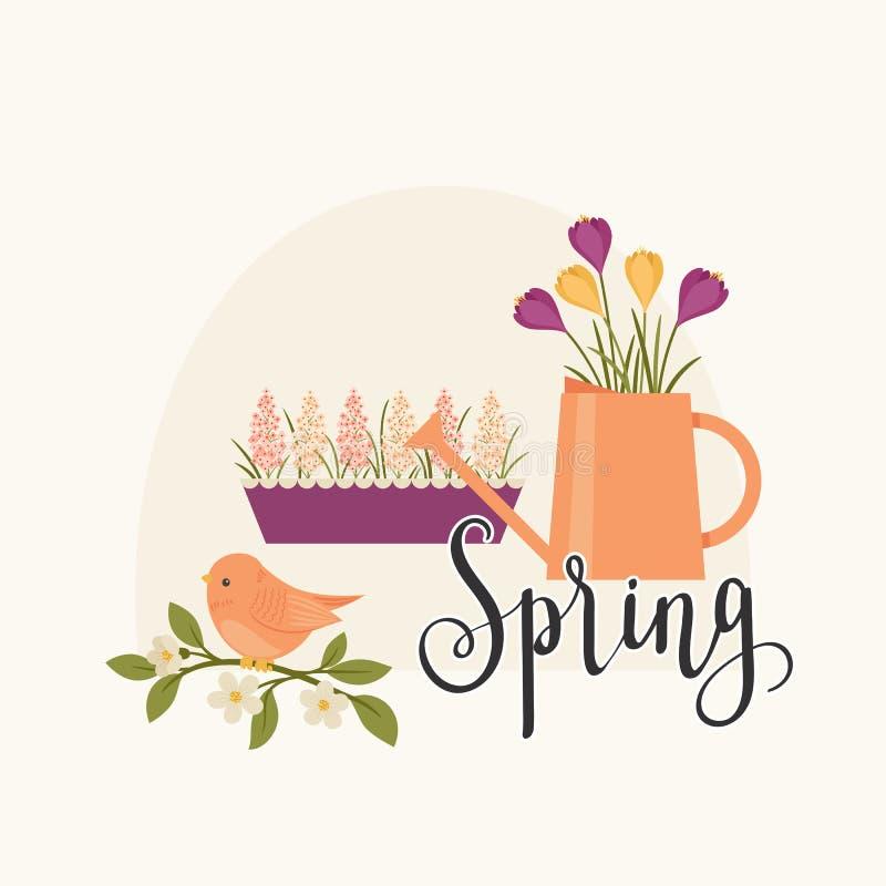 Ejemplo del vector del concepto de la primavera stock de ilustración