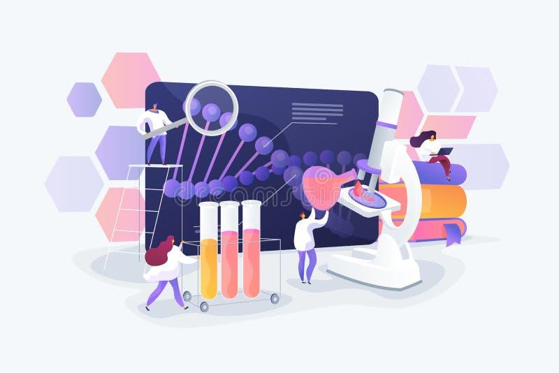 Ejemplo del vector del concepto de las pruebas gen?ticas ilustración del vector