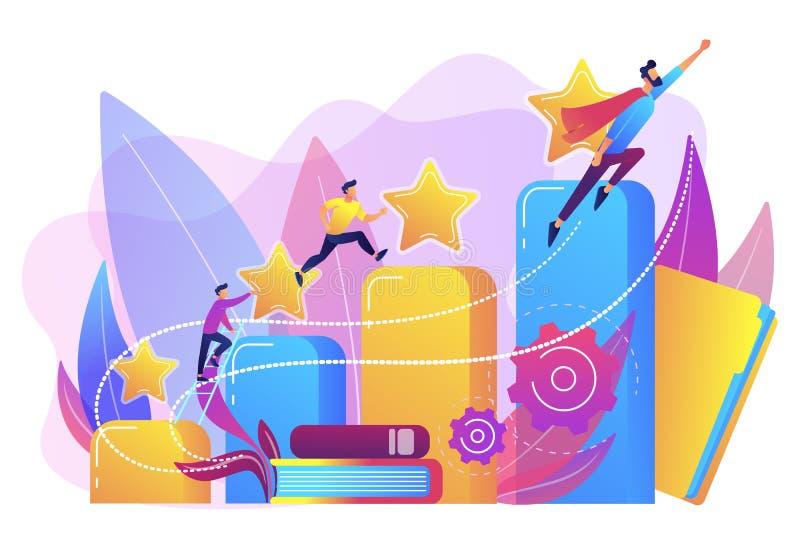 Ejemplo del vector del concepto del desarrollo de carrera libre illustration