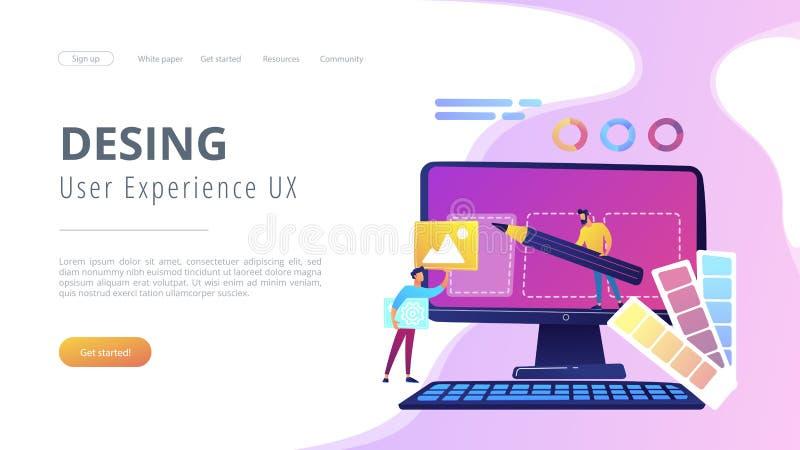 Ejemplo del vector del concepto del desarrollo del diseño web ilustración del vector