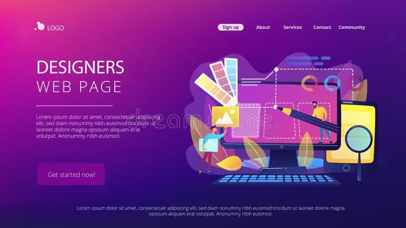 Ejemplo del vector del concepto del desarrollo del diseño web libre illustration