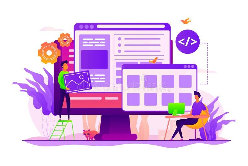 Ejemplo del vector del concepto del desarrollo web ilustración del vector
