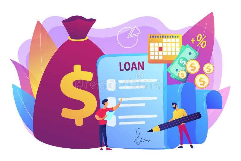 Ejemplo del vector del concepto del desembolso de préstamo stock de ilustración