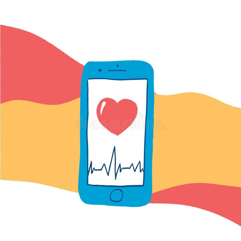 Ejemplo del vector, concepto digital de la atención sanitaria imagenes de archivo