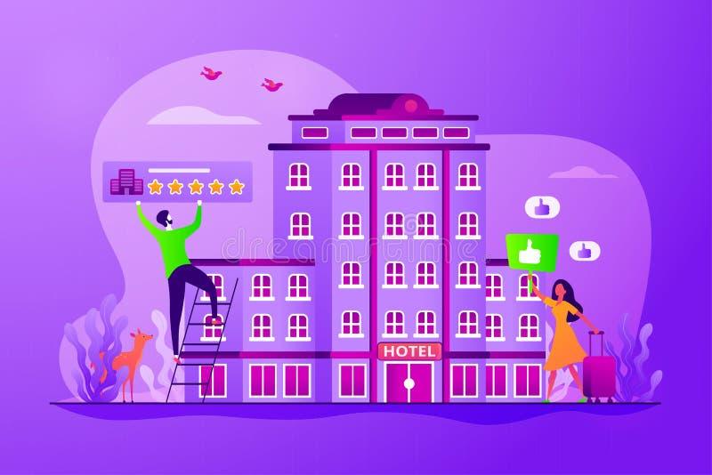 Ejemplo del vector del concepto del hotel de la forma de vida stock de ilustración