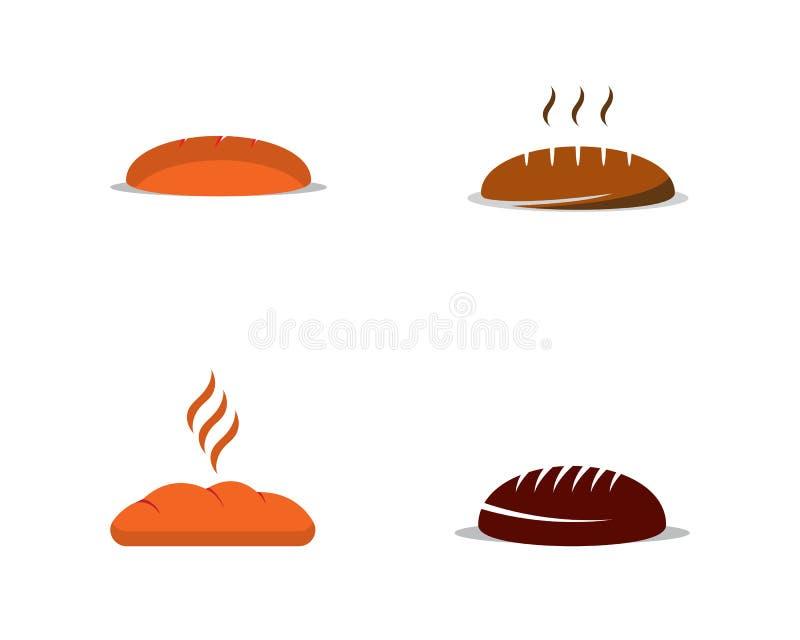 Ejemplo del vector del concepto del logotipo del pan libre illustration