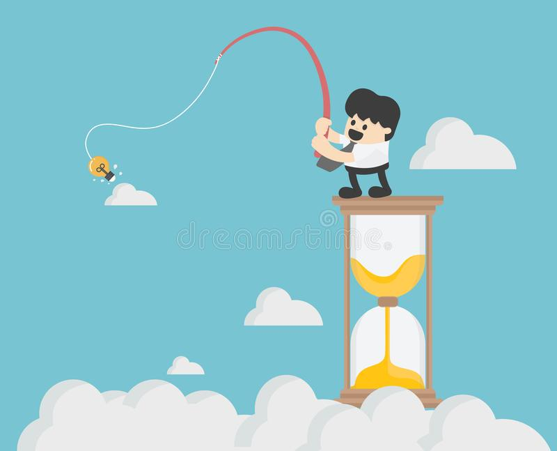Ejemplo del vector del concepto del negocio, pescando negocio en el hou stock de ilustración