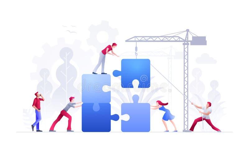 Ejemplo del vector del concepto del trabajo en equipo del negocio libre illustration