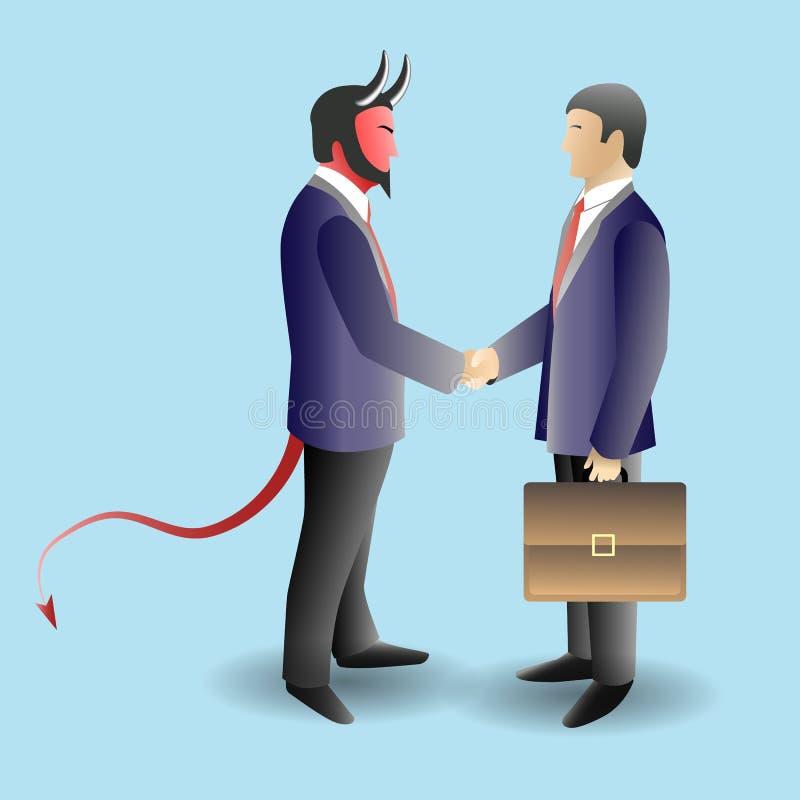 Ejemplo del vector del concepto del trato del diablo stock de ilustración