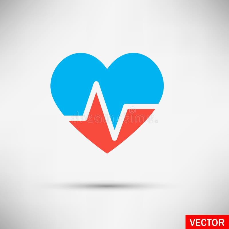 Ejemplo del vector del corazón quebrado imágenes de archivo libres de regalías