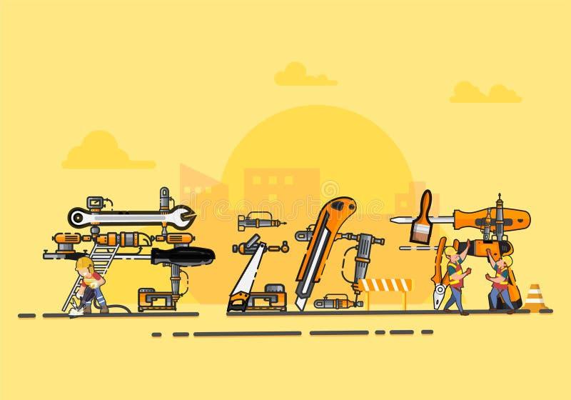 Ejemplo del vector del D?a del Trabajo ilustración del vector