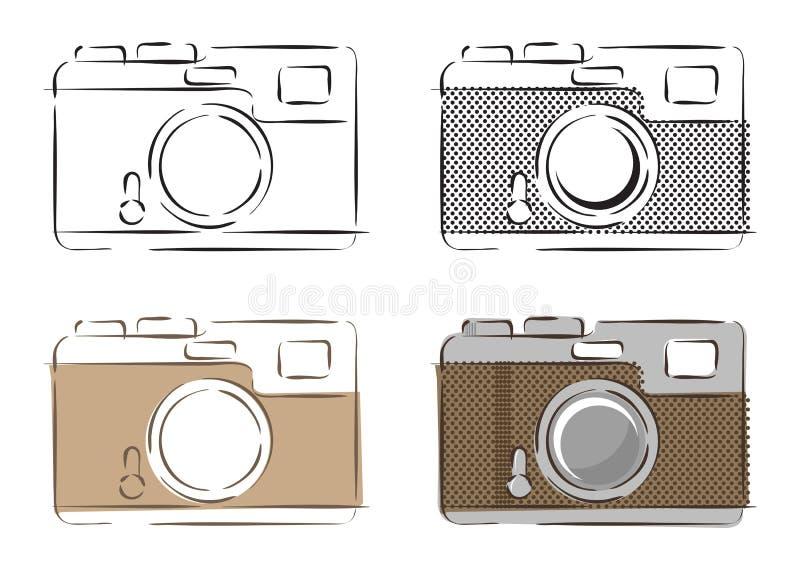 Ejemplo del vector de cámaras retras libre illustration