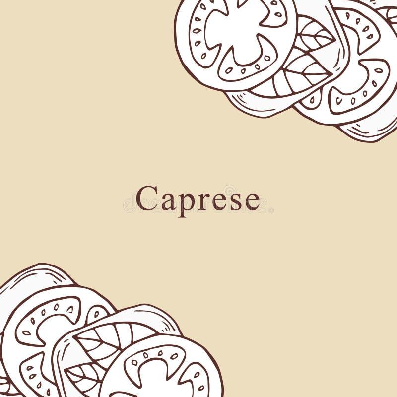 Ejemplo del vector de Caprese en estilo de la historieta ilustración del vector