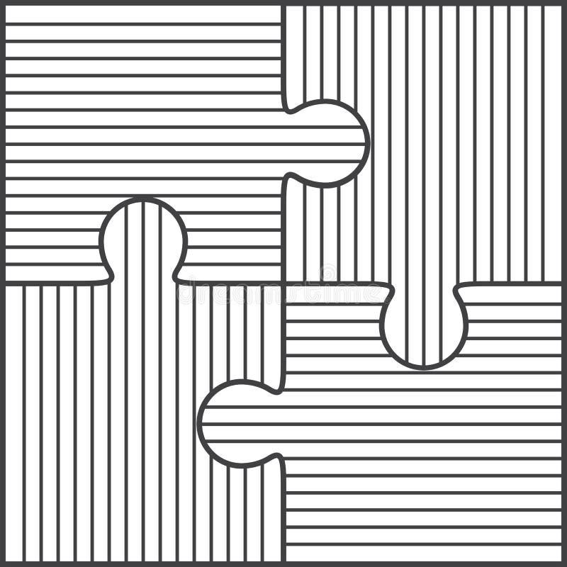 Ejemplo del vector de cuatro pedazos del rompecabezas libre illustration