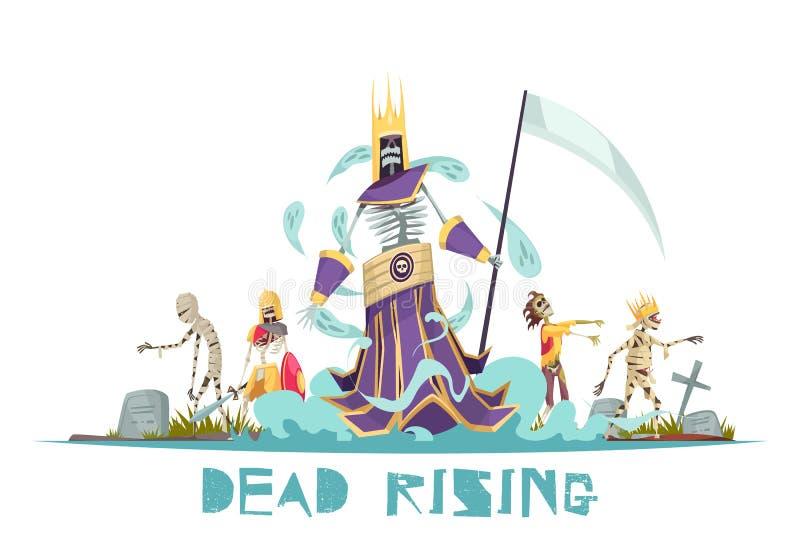 Ejemplo del vector de Dead Rising stock de ilustración
