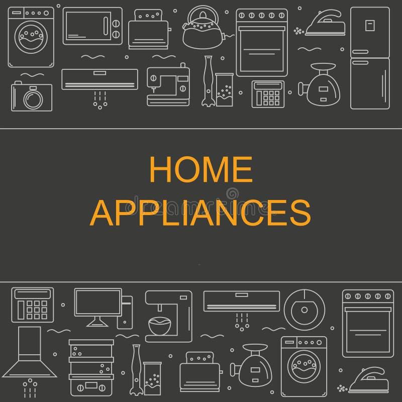 Ejemplo del vector de diversos aparatos electrodomésticos libre illustration