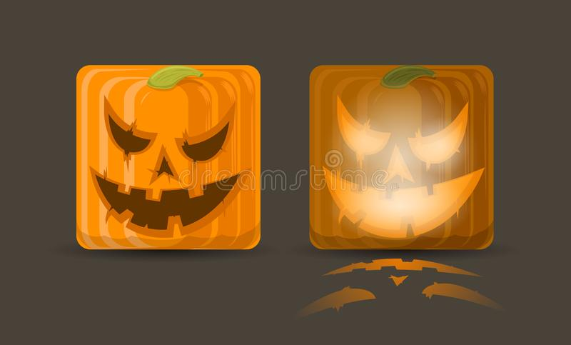 Ejemplo del vector de dos iconos de la calabaza libre illustration