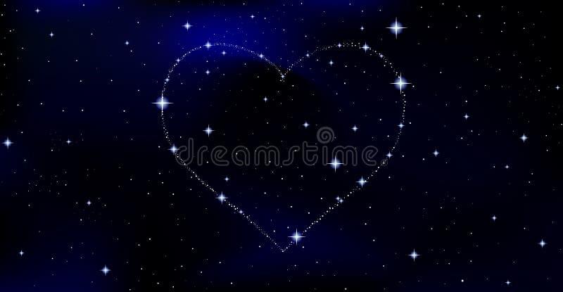 Ejemplo del vector de espacio con el corazón estrellado libre illustration