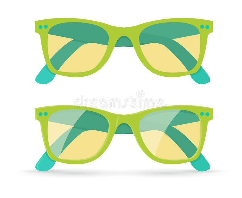 Ejemplo del vector de gafas de sol libre illustration