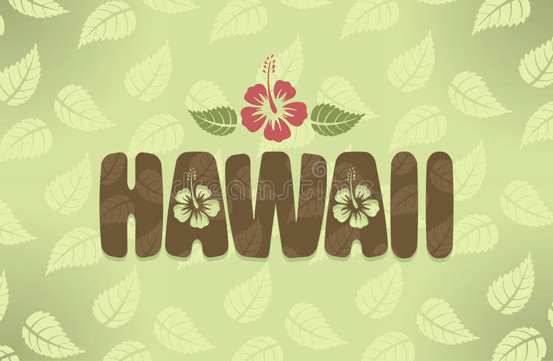 Ejemplo del vector de Hawaii en colores del vintage ilustración del vector