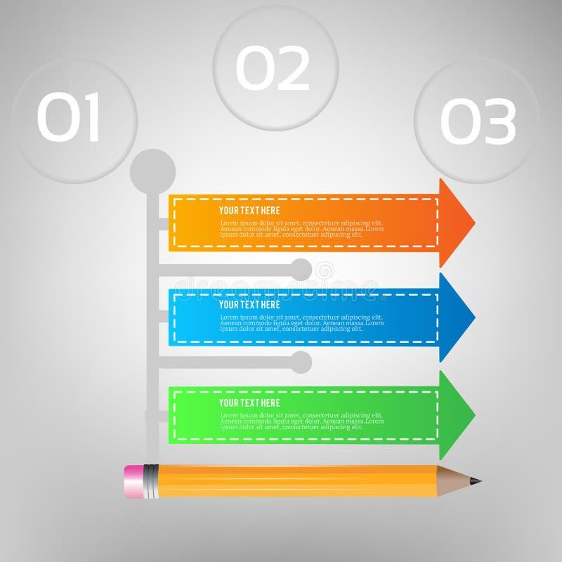 Ejemplo del vector de Infographics del negocio puede ser utilizado para la disposición del flujo de trabajo, bandera, diagrama, o fotografía de archivo libre de regalías