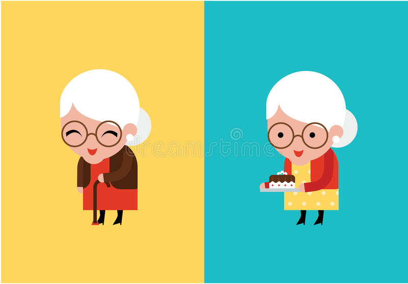 Ejemplo del vector de la abuela libre illustration