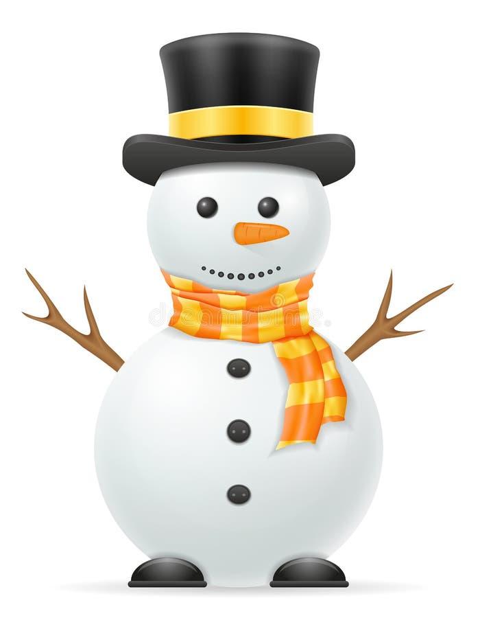 Ejemplo del vector de la acción del muñeco de nieve de la Navidad libre illustration