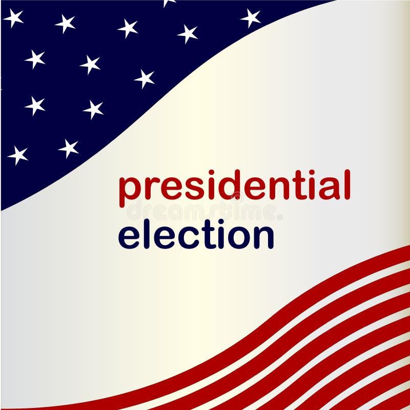 Ejemplo 2020 del vector de la acción del voto de la elección del presidente del fondo de la bandera americana libre illustration