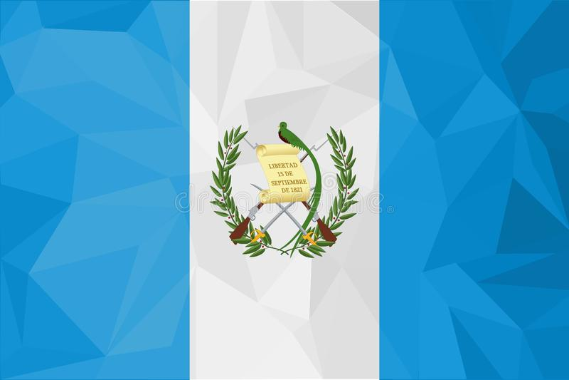 Ejemplo del vector de la bandera de Guatemala Bandera de Guatemala Bandera nacional de Guatemala stock de ilustración