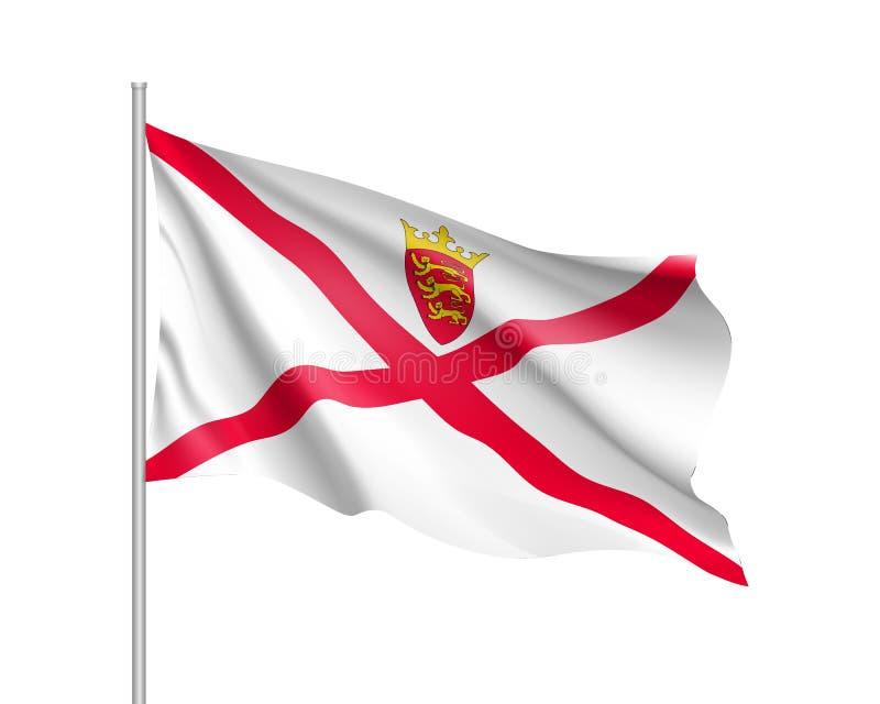 Ejemplo del vector de la bandera nacional del jersey stock de ilustración