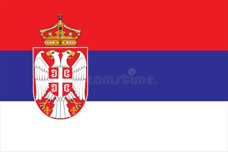 Ejemplo del vector de la bandera de Serbia Bandera de Serbia ilustración del vector