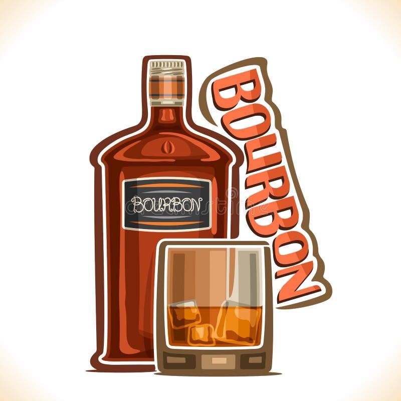 Ejemplo del vector de la bebida Borbón del alcohol ilustración del vector