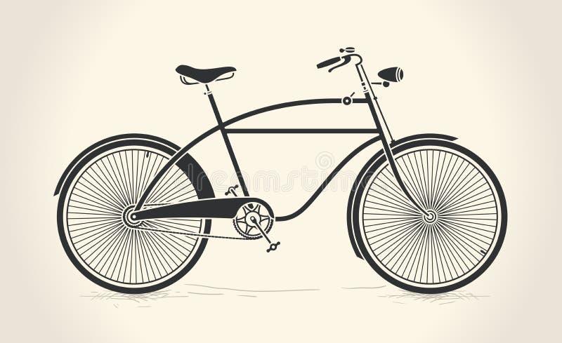 Ejemplo del vector de la bicicleta del vintage stock de ilustración