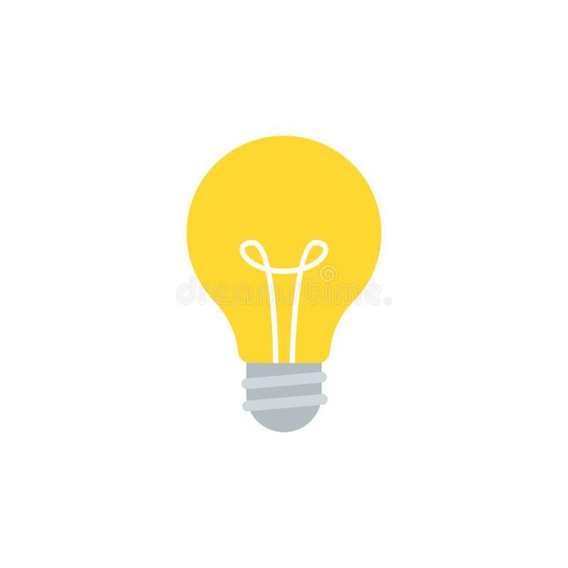 Ejemplo del vector de la bombilla aislado en blanco libre illustration